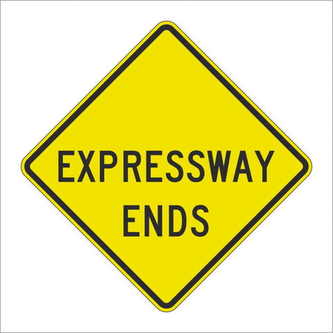W19-4 EXPRESSWAY ENDS SIGN