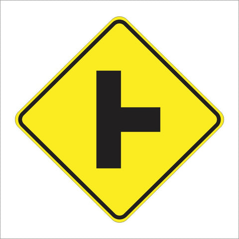 W2-2 SIDE ROAD SYMBOL SIGN