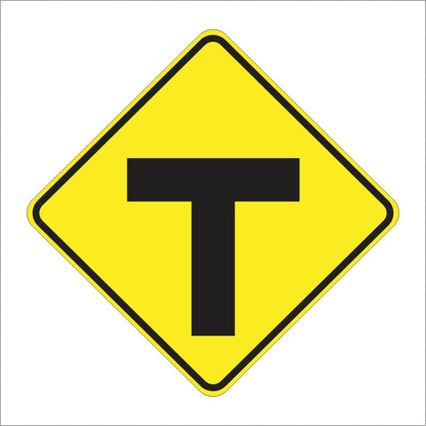 W2-4 T INTERSECTION SIGN