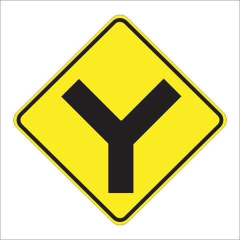 W2-5 Y INTERSECTION SIGN