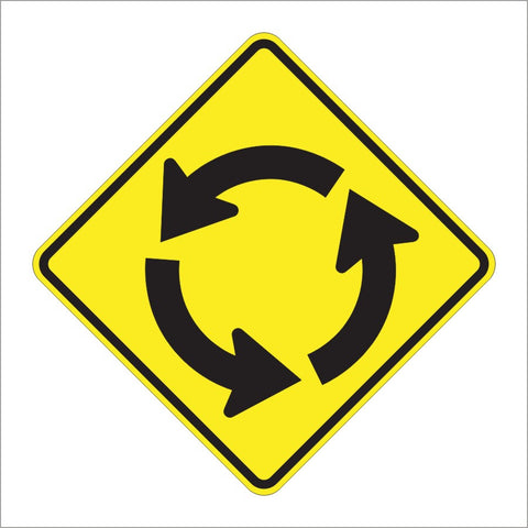 W2-6 CIRCULAR INTERSECTION SIGN