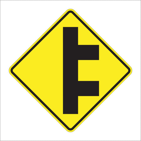 W2-8 DOUBLE SIDE ROADS SYMBOL SIGN