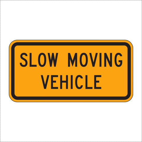 W21-4 SLOW MOVING VEHICLE SIGN