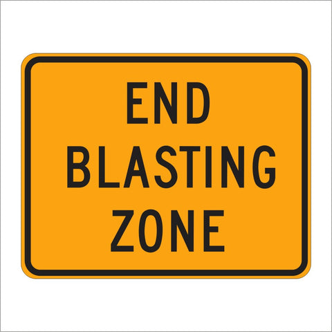 W22-3 END BLASTING ZONE SIGN