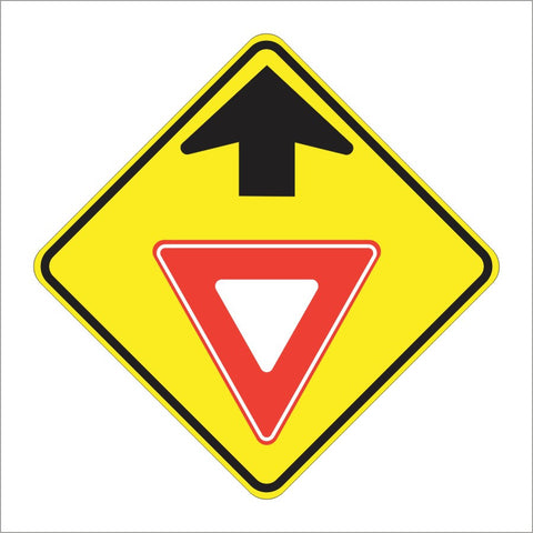 W3-2 YIELD AHEAD SIGN