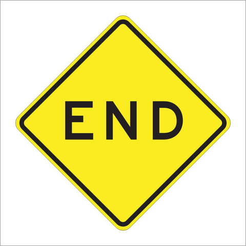 W31(CA) END SIGN