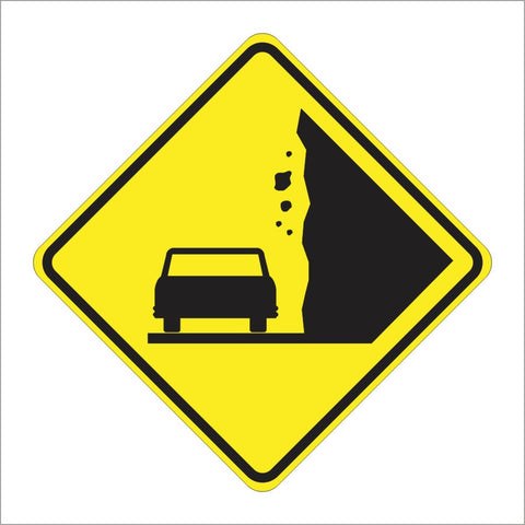 W50-1 (CA) ROCK SLIDE AREA SIGN