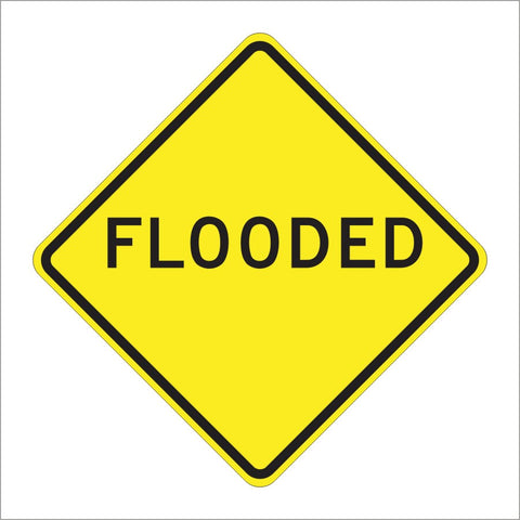 W55 (CA) FLOODED SIGN