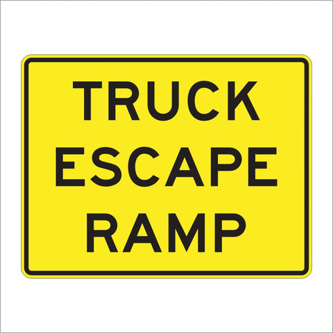 W7-4C TRUCK ESCAPE RAMP SIGN