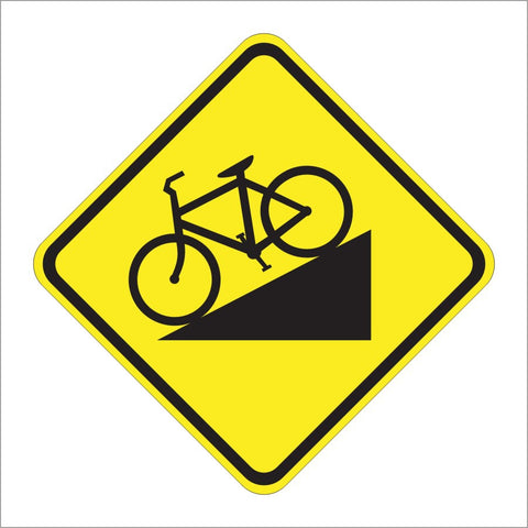 W7-5 HILL (BICYCLE) SIGN