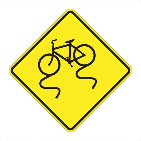 W8-10 BICYCLE SURFACE CONDITION SIGN
