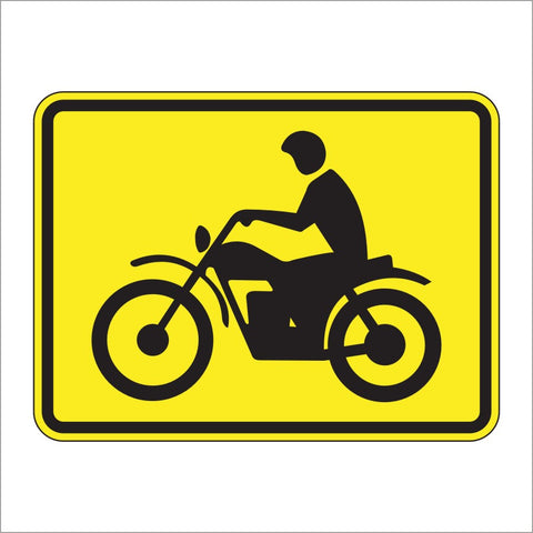 W8-15P MOTORCYCLE PLAQUE SIGN
