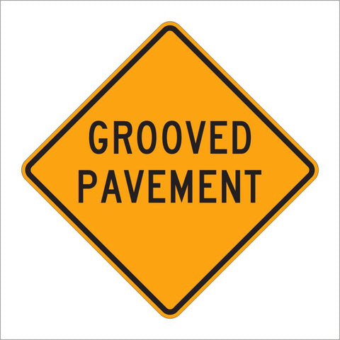 W8-15 GROOVED PAVEMENT SIGN