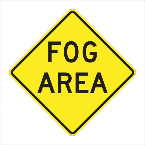 W8-22 FOG AREA SIGN
