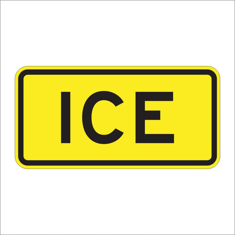 W8-5AP ICE SIGN