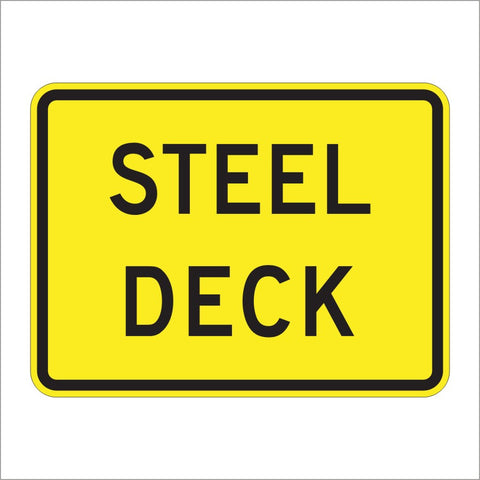 W8-5BP STEEL DECK SIGN