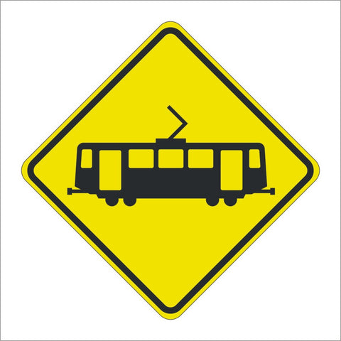 W82 (CA) LIGHT RAIL/TRANSIT CROSSING SYMBOL SIGN