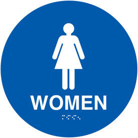 "12"" Womens Restroom Door Sign"