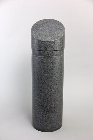"Innoplast 11"" x 39"" Charcoal (Charcoal 9966) Granite Decorative Slant Top Bollard Cover #30 (11.15"" ID) (Max pipe height - 27"")"