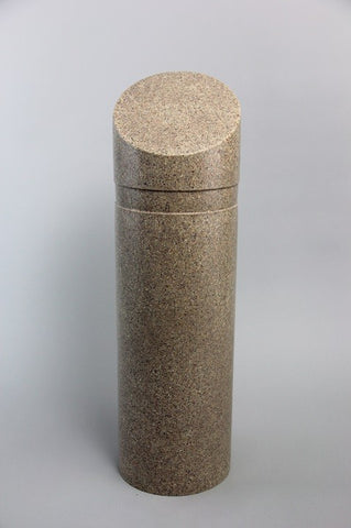 "Innoplast 11"" x 39"" Tan (Sandstone) Granite Decorative Slant Top Bollard Cover #30 (11.15"" ID) (Max pipe height - 27"")"