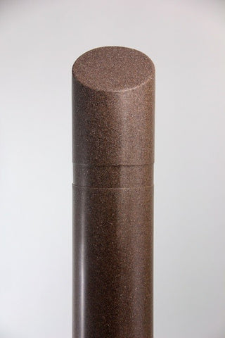 "Innoplast 8"" x 65"" Brown (Dark Monzonite #14042) Granite Decorative Bollard Cover with Slant Top (9.125"" ID x .188"" wall)"