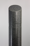 "Innoplast 7"" x 65"" Charcoal Grey (Ash #9966) Granite Decorative Slant Top Bollard Cover (7.1"" ID x .188"" wall)"