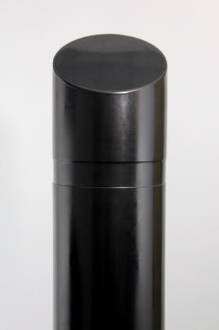 "Innoplast 8"" x 65"" Black Decorative Slant Top Bollard Cover (9.125"" ID x .188"" wall)"