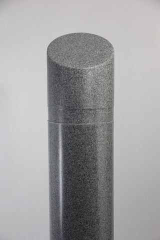 "Innoplast 8"" x 65"" Charcoal Grey (Ash #9966) Granite Decorative Bollard Cover with Slant Top (9.125"" ID x .188"" wall)"