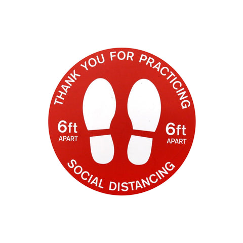 "FLOOR DECAL - 12"" ROUND - 6 FT - SOCIAL DISTANCING"