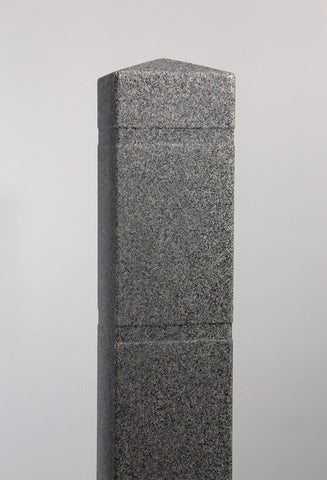 "6.5"" x 60"" Charcoal Grey (Ash #9966) Square Granite Decorative Bollard Cover (6.5"" ID x .188"" wall)"