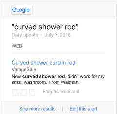 Curved shower rod for sale on Craigslist