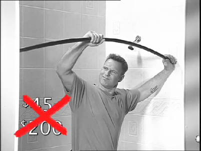 Why pay for pricey curved shower rod?