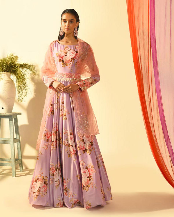 The Candy Shop- Purple Grape floor length Anarkali Set