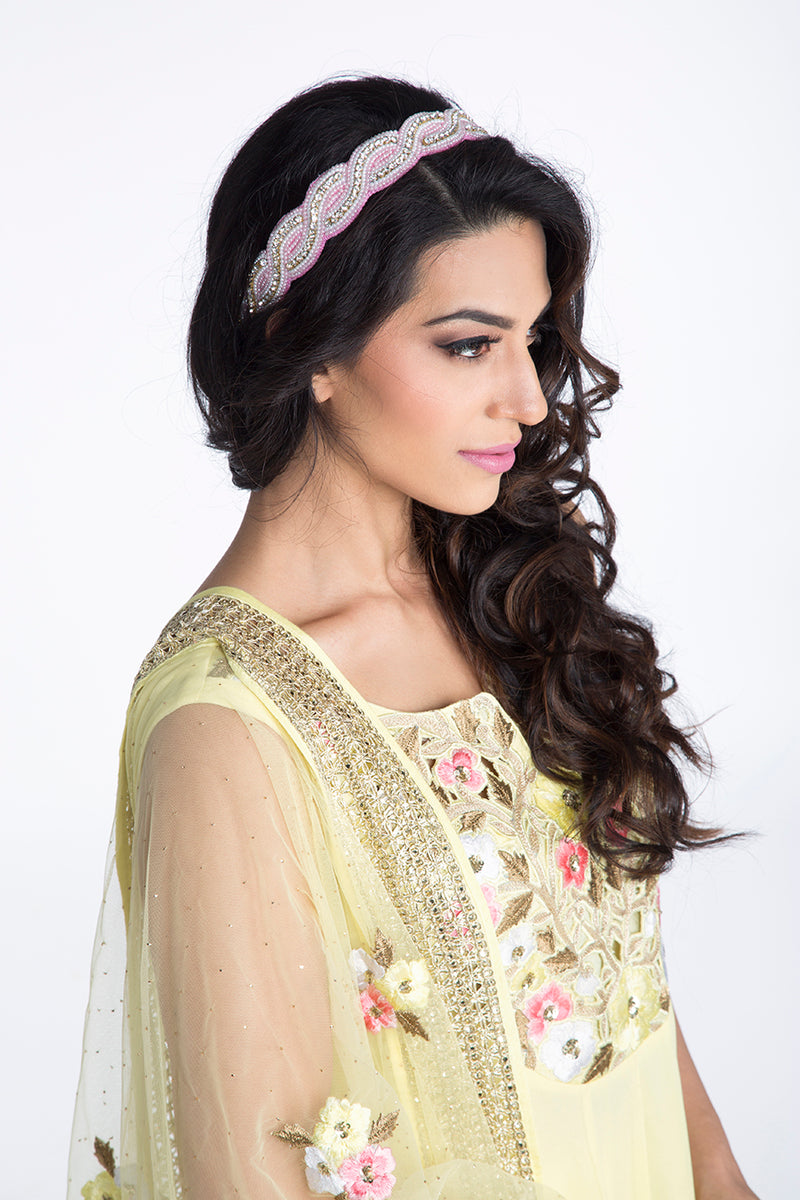 Bloom - Baby Yellow Cutwork Patch Anarkali