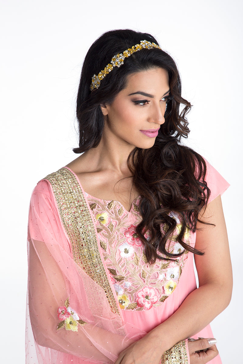 Bloom - Baby Pink Cutwork Patch Anarkali
