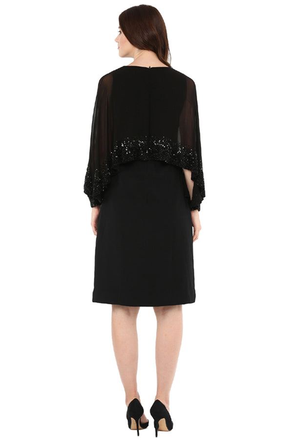 A Romantic Fable - Olivia Black Embroided Dress
