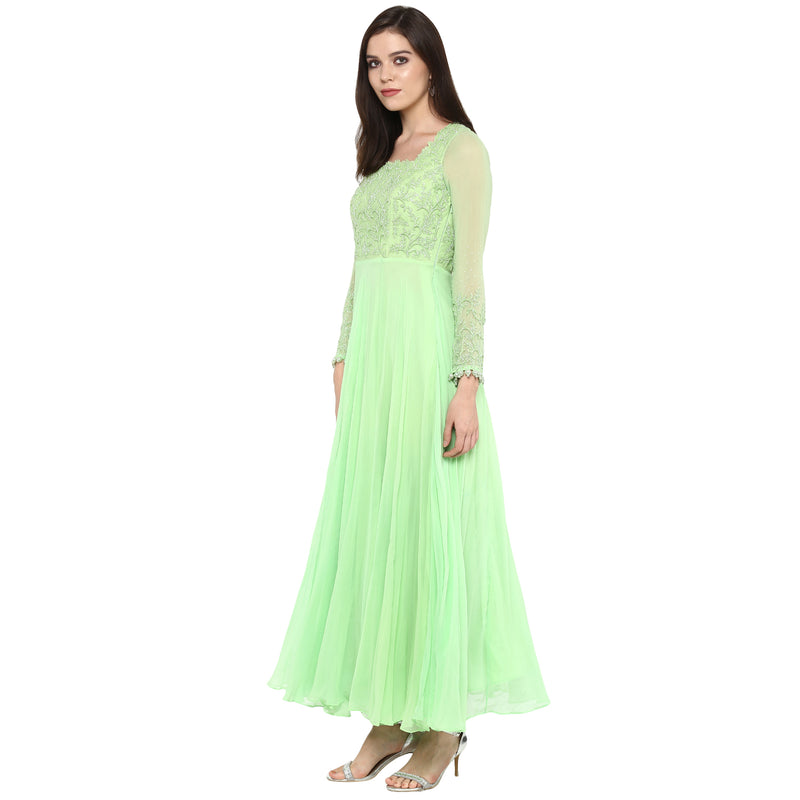 A Romantic Fable - Katrina Mint Green embroidered anarkali