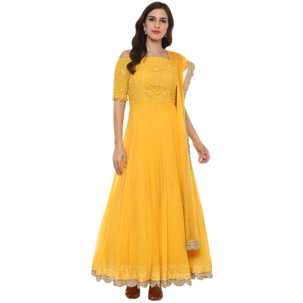 A Romantic Fable - Maria Mango embroidered anarkali