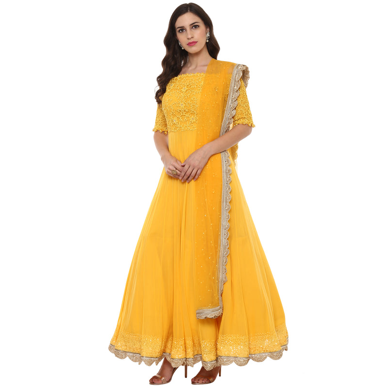 A Romantic Fable - Maria Mango embroided anarkali