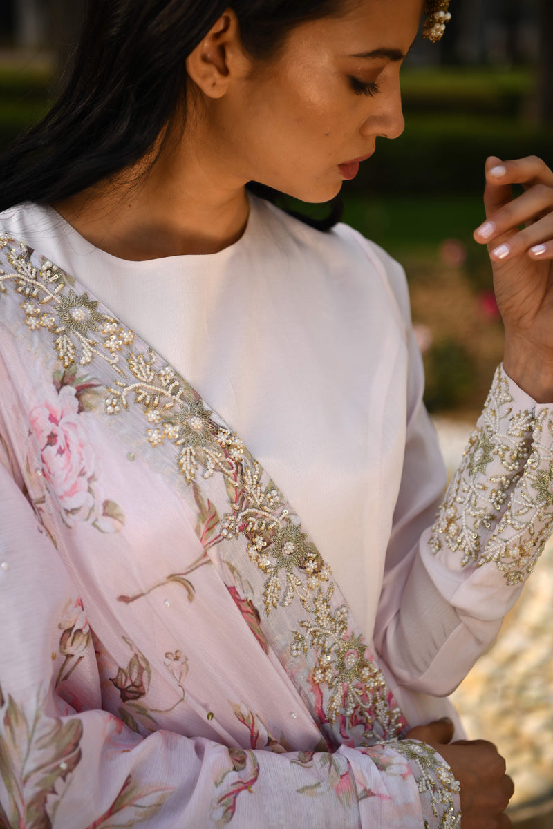 Once Upon a Time - Blush Pink Embroided Anarkali Set