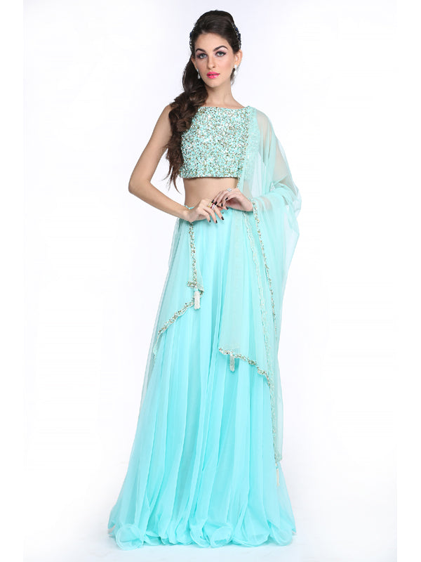 ELSA- Baby Blue Lehnga Set