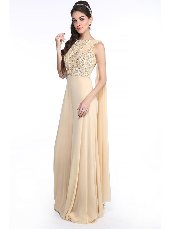 ELSA - Beige Draped Jumpsuit