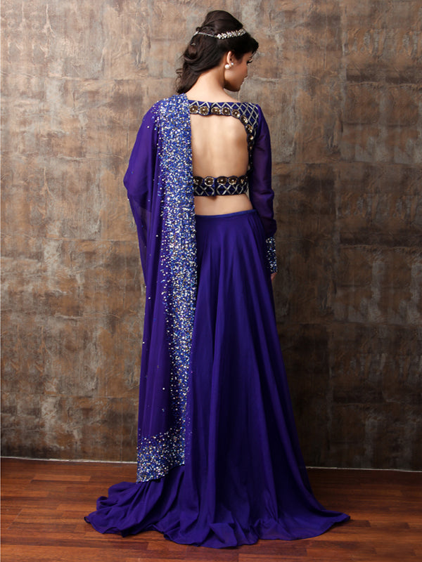 ELSA - Royal Blue Lehnga Set