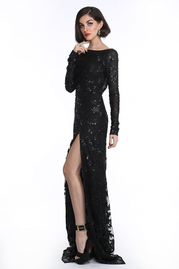 Marilyn - Embroidered Evening Gown