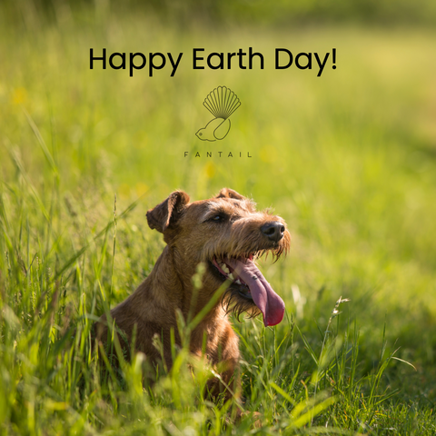 Fantail Earth Day dog