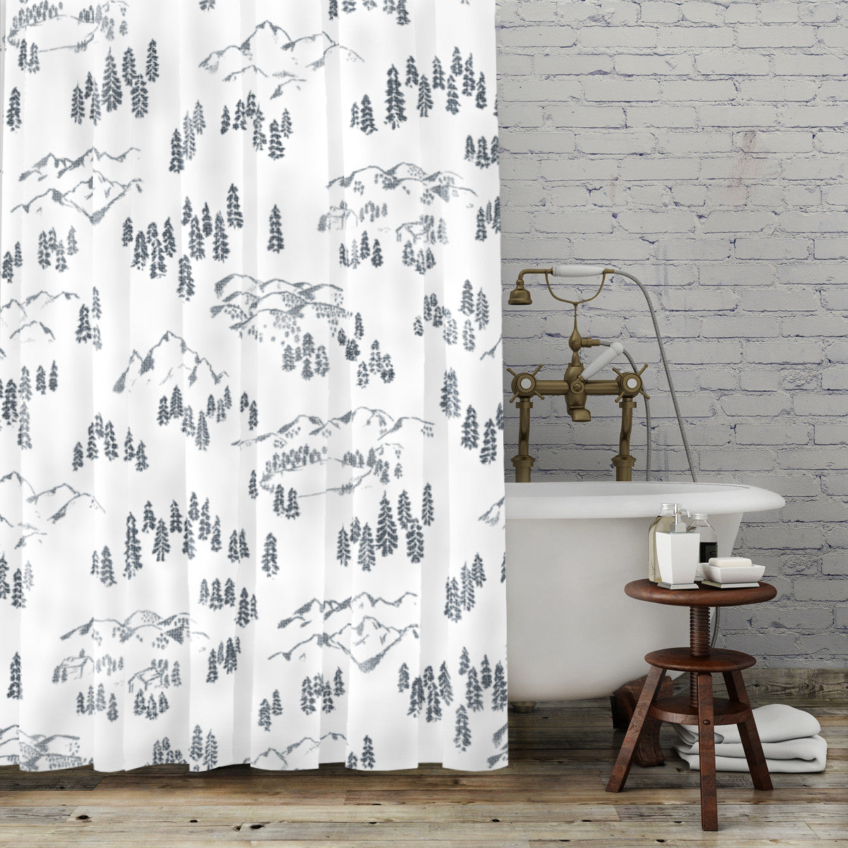 Porter Gray - Shower Curtain