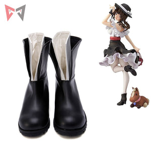 2018 MMGG Anime  TARI Okita Sawa  cosplay shoes  leather  Hight quality
