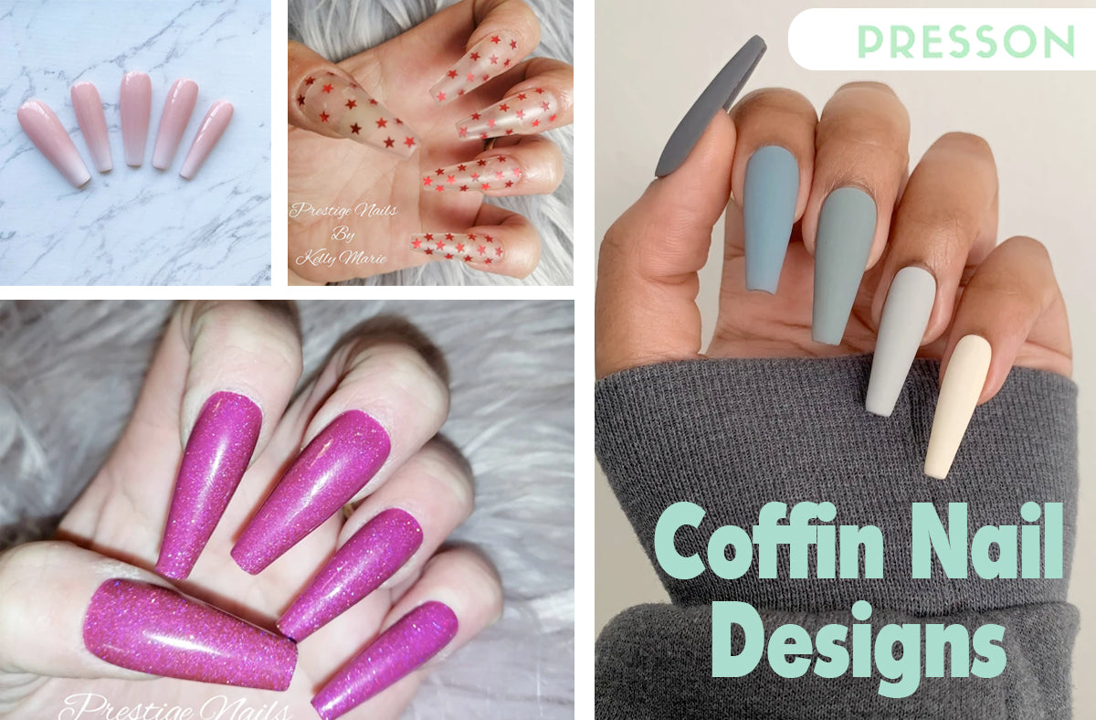 different types of coffin nails on fingers