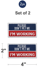 Load image into Gallery viewer, Industrial Puppy Do Not Pet Patch - Attachable Service Dog Patch with Hook and Loop Backing for Do Not Pet Dog Vest Harness or Collar - Embroidered Do Not Pet Service Dog Patches for Working Dogs
