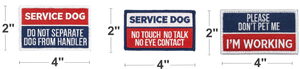 Industrial Puppy Embroidered Service Dog Patch Set of 5 Patches with Hook and Loop Backing - Service Dog Patches, Service Dog in Training Patch, Do Not Pet Patch, Do Not Separate, No Touch Patches